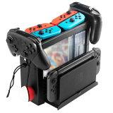 任天堂Switch収納スタンドNintendoSwitch専用ProコントローラーJoy-Conゲームディスクモンスターボールゲームカードゲームソフト大容量収納可能TNS19051