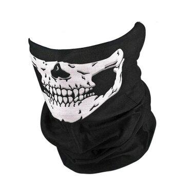 スカルフェイスマスク 防風防塵 フェイスカバー ネックウォーマー アウトドア サバゲ— TORE36