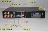 H.264デジタルレコーダー カメラ4台から同時に録画可能 リモコン付 4CH同時接続 スマホで映像確認&操作 VGA/HDMI出力端子 DVR100