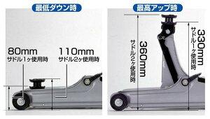 メルテック油圧式ローダウンジャッキ2t最低地上高80mmに対応タイヤ交換にF-70/