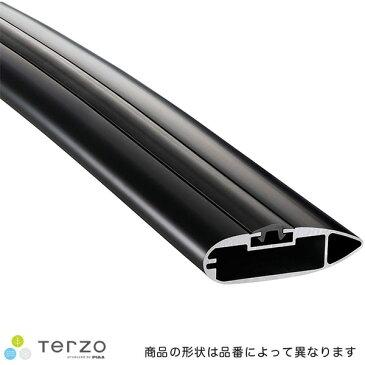 ブラック 風切音低減 長さ124cm 1本入り ベースキャリア エアロバー・アルミベースバー EB124AB テルッツォ/Terzo