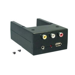 槌屋ヤック/YAC1DINボックス用オーディオ入力端子(RCA/φ3.5AUX)USBポートVP-D3/