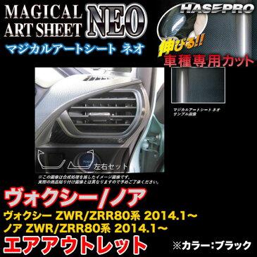 ハセプロ MSN-AOT20 ヴォクシー/ノア ZWR80系/ZRR80系 2014.1〜 マジカルアートシートNEO エアアウトレット ブラック カーボン調シート
