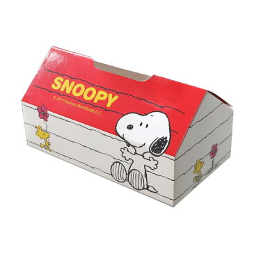 スヌーピー SNOOPY ペーパーティッシュケース ハウス 紙製 車 部屋 ティッシュボックス入れ/明邦 MEIHO SN91