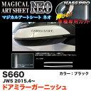 ハセプロ/HASEPRO マジカルアートシートNEO ドアミラーガーニッシュ ホンダ S660 JW5 H27.4〜 カーボン調シート ブラック MSN-DMGH1