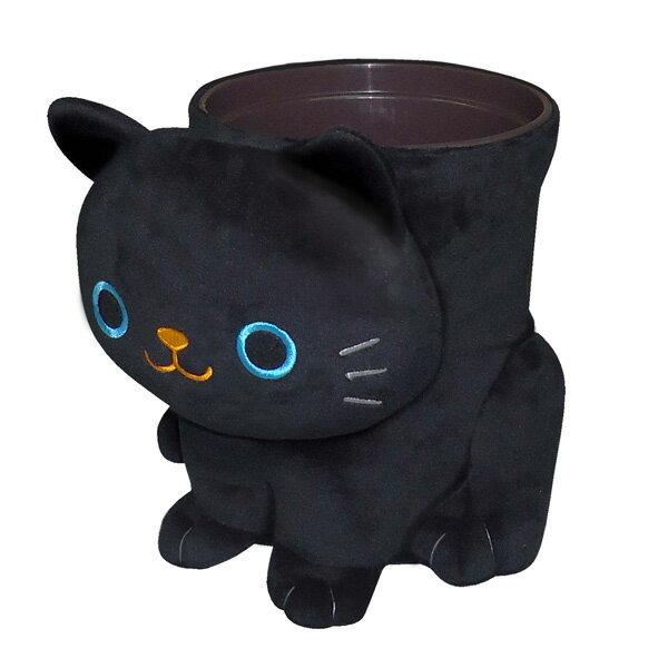 明邦/MEIHO 猫 ねこ ぬいぐるみ ダストボックス ゴミ箱 クロ ねこのしっぽの物語 ME130