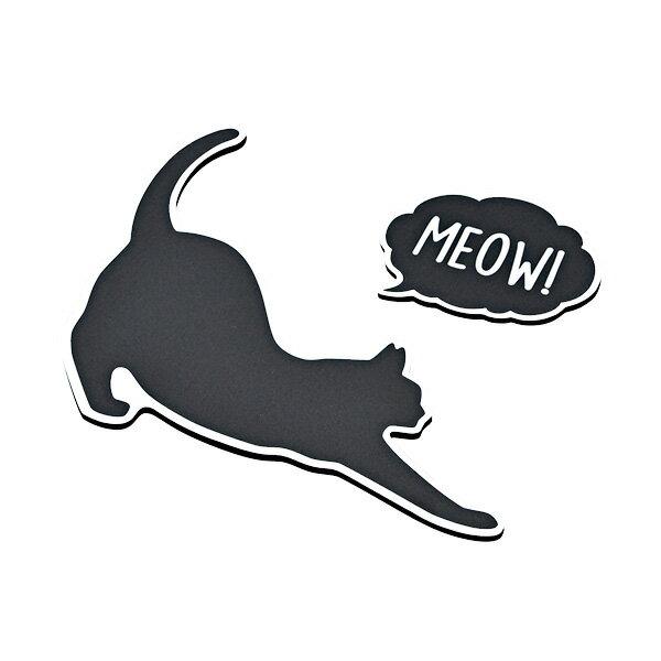 セイワ/SEIWA CAT すべり止めシート 猫 ネコ 水洗い可能 H130mm×W144mm×D3mm ブラック W952画像