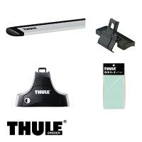 THULE/スーリーCR-VルーフレールなしH10/9〜H13/9RD1,RD2キャリア車種別セット/754+961+1102
