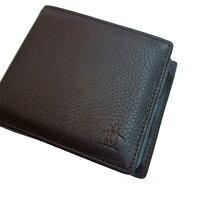 Munsingwear(マンシングウェア)二つ折り本革財布ブラウン