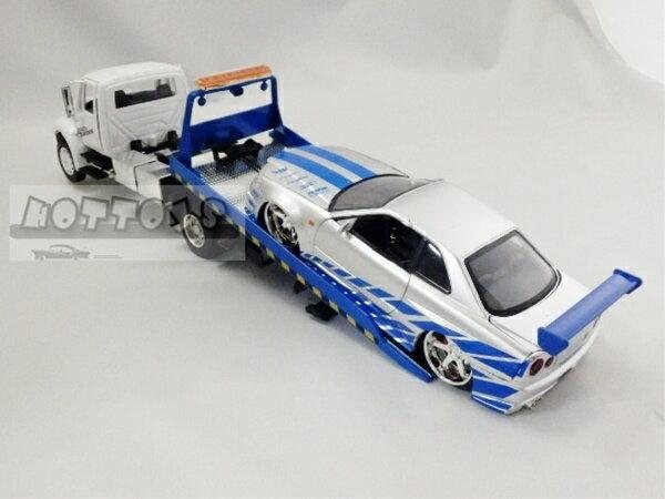 1/24 JadaTOYS☆ワイルドスピード 積載車(1台積載) 白 【予約商品】