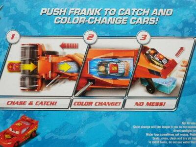 ◎ディズニーカーズミニカー/カラーチェンジャー♪楽しい!フランクから、逃げろ!プレイセット♪カーズおもちゃ