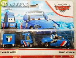 ◎ディズニーカーズ ミニカー/マテル製 BRUNO MOTOREAU と E.MANUAL MANIEZの2台セット  カーズ おもちゃ 【予約商品】