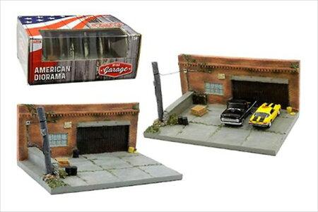ミニカー1/64AmericanDioramaマイガレージジオラマセットアメリカの古い車庫特別限定予約商品