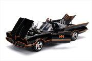 ミニカー1/18JadaTOYS/特別豪華モデル1966年バットマンTVシリーズバットモービルフィギュア付♪ライト点灯【予約商品】ポイント5倍