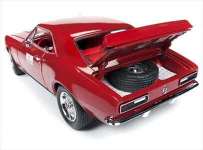 ミニカー1/18AUTOWORLD1967シボレーカマロHotRodテストカー赤ミニカーアメ車限定品予約商品