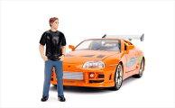 ワイルドスピードミニカー1/24JadaTOYS☆ワイルドスピードスープラオレンジ色ポールウォーカーのメタルフィギュア付き!【予約商品】