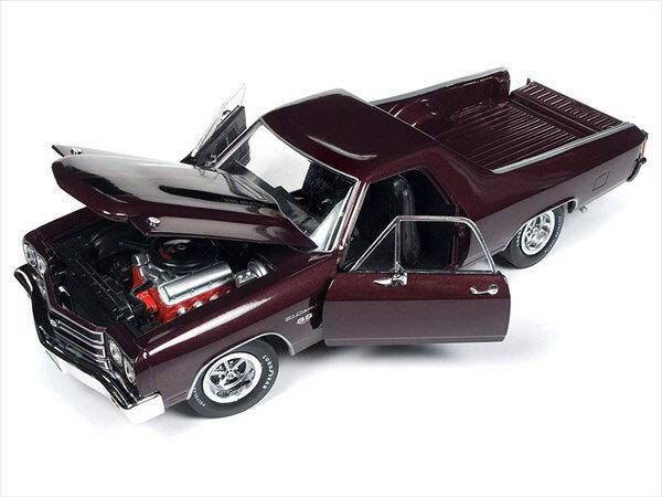 ミニカー 1/18 AUTOWORLD☆1970 シボレー・エルカミーノ  ブラウン色 シボレートラック100周年記念特別モデル【1000台限定予約商品】