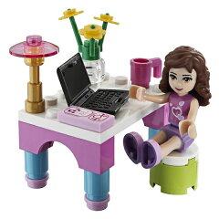 オリビアの机は、パソコン、携帯電話、花瓶までついてます♪レゴ フレンズ ☆ 楽しい♪ オリ...
