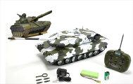 1/16ラジコン☆ドイツ戦車Leopard2A6砲弾発射装置付き♪全長60cm!