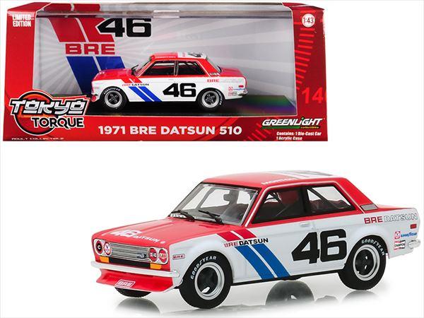 車, ミニカー・トイカー  143 GREENLIGHT 1971 510 BRE 510 1971 BRE Datsun 510 46