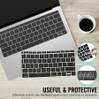 MacBook キーボードカバー MacBook Pro 13インチ/12インチ/15インチキーボードカバーTouch Bar非搭載モデル/ 2016 2016 US配列 2016 Touch Bar非搭載モデル 対応 キーボードカバーセット 防塵カバー