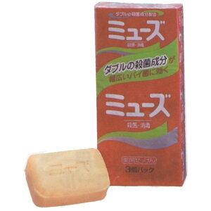 きめ細かい泡立ちで殺菌効果がいきわたります薬用石けん ミューズ 石鹸 3個入り ニットー ...