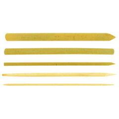 手になじみやすく使いやすいネンドヘラです!【粘土】 竹製ねんどヘラ 1セット(5本)【製作素材】