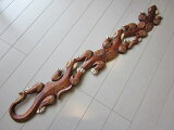 ヤモリ 3連 壁掛け 100cm / バリ雑貨 アジアン雑貨 守り神 縁起物