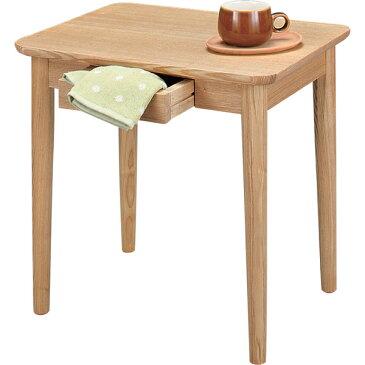 このコンパクトさが可愛い♪ 木製 サイドテーブル 【送料無料】 北欧 引き出し付き ミニテーブル 正方形 おしゃれ 小さいテーブル ハイタイプ 50 激安 ナチュラル 木製 ミニデスク