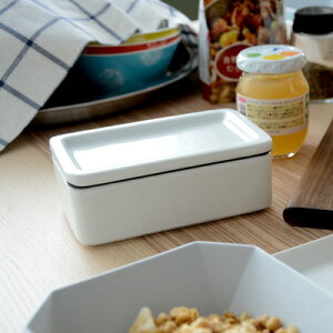 【ポイント10倍】KINTO バターケース/ホワイト16251【キントー 陶磁器 バター 保存…