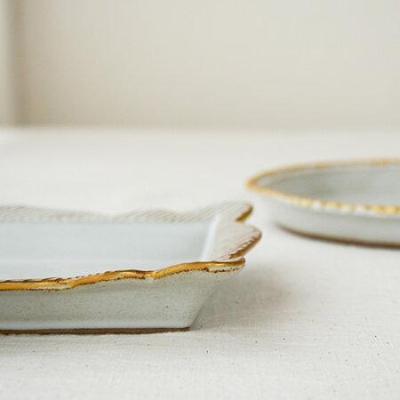 sen豆皿フレーム/大(2種類)【京千作家和食器角皿豆皿波佐見焼】