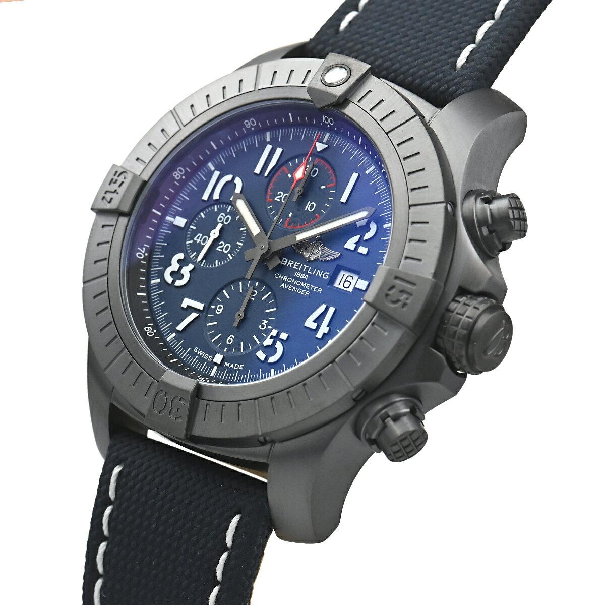 ブライトリングBREITLINGスーパーアベンジャークロノグラフ48ナイトミッションV13375101C1X1【中古】メンズ腕時計送料無料