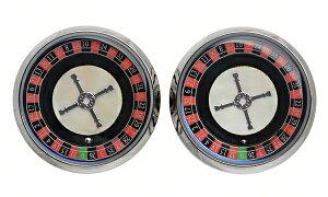 TFEst.1968ルーレットホワイトシェルカフリンクスCR-SS00