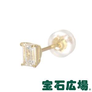 宝石広場オリジナルバゲットダイヤピアス(シングル)D0.231ct