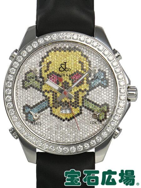 ジェイコブJACOB&Co5タイムゾーン47スカルJC-SKULL1D 中古 メンズ腕時計