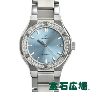 Hublot HUBLOT Classic Fusion Titanium Light Blue Bracelet 585.NX.891L.NX.1204 [Used] Ladies Watch Free Shipping