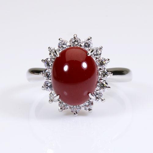 血赤珊瑚指輪