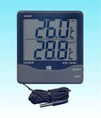 デジタル表示ですので、温度測定がひと目で分かります。アイシー サーモ1000 デジタル内外サ...