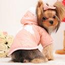 【メール便送料無料】【雨の日に】着せやすい前ボタン♪ダウンジャケット風コート(犬服/ドッグウェア/チ...