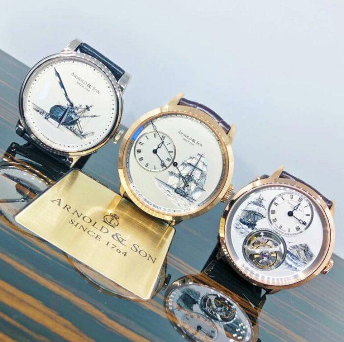 【新品】ARNOLD&SON アーノルド&サン HMSビーグル号3本セット 1LCAW.S08A.C111 1ARAP.W08A 1UTAR.S07A 世界限定8本 腕時計 watch【送料・代引手数料無料】