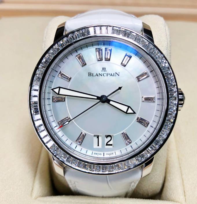 【新品】 Blancpain ブランパン ウーマン ラージ デートWomen Large Date 2850-5254-55B 18kホワイトゴールド メンズ 腕時計 watch【送料・代引手数料無料】