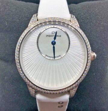 【新品】JAQUET DROZ ジャケドロー PETITE HEURE MINUTE MOTHER-OF-PEARL J005004570 メンズ 18kホワイトゴールド 腕時計 watch【送料・代引手数料無料】