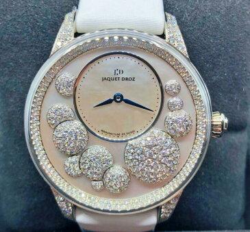 【新品】JAQUET DROZ ジャケドロー PETITE HEURE MINUTE MOTHER-OF-PEARL J005024533 メンズ 18kホワイトゴールド 腕時計 watch【送料・代引手数料無料】