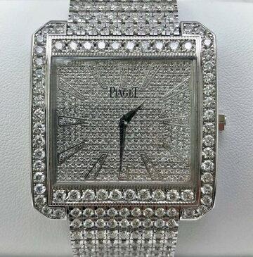 【新同品】Piaget/ピアジェ プロトコール XXL P10452 アフターダイヤモンド 18kホワイトゴールド メンズ 腕時計 watch【送料・代引手数料無料】