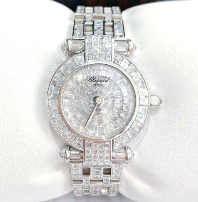 【新品】Chopard ショパール レディース 38/3260-20 18k ホワイトゴールド 純正バケットダイヤモンド  腕時計 watch【送料・代引手数料無料】