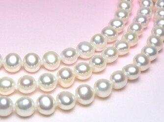淡水真珠ロングネックレス(8.0~7.0mm/100cm)