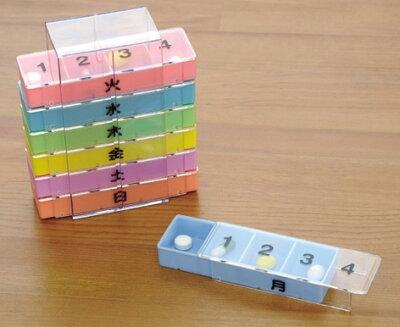 スライド式のフタがついて薬が取り出しやすくなりました!幸和製作所 テイコブ薬入れ 1週間用...