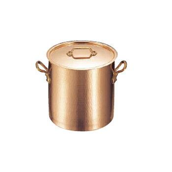 寸胴鍋(蓋付)銅製モービル2148-2828cm