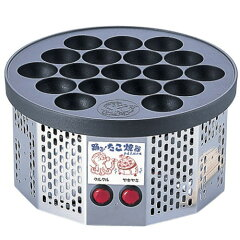 (送料・代引手数料無料) 踊る! たこ焼き器〜電気式 半自動 踊るたこ焼き器 (18ヶ取)