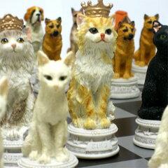 ※送料無料!※【犬猫総勢32匹が揃い踏み】犬猫のチェスセット